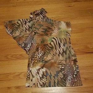 Cache One sleeve dress